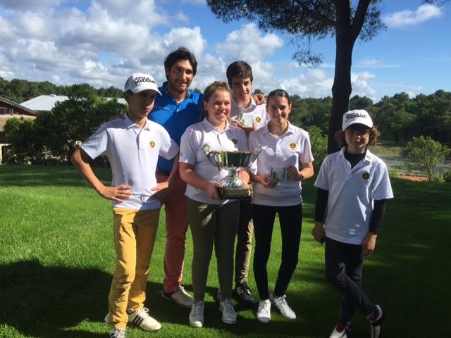 Victoire de notre école de golf au Challenge Descoubès