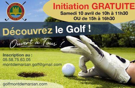 Découvrez le golf avec notre prochaine Initiation Gratuite!