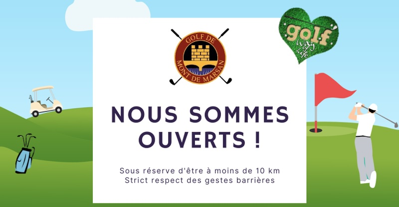 Le golf de Mont de Marsan reste ouvert 7 jours sur 7 de 8h à 18h