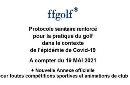 Découvrez le nouveau protocole sanitaire à la pratique du golf