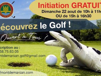 Venez essayer le golf gratuitement!